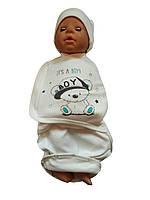 Пеленка кокон для новорожденного, европеленка, интерлок до 68 см