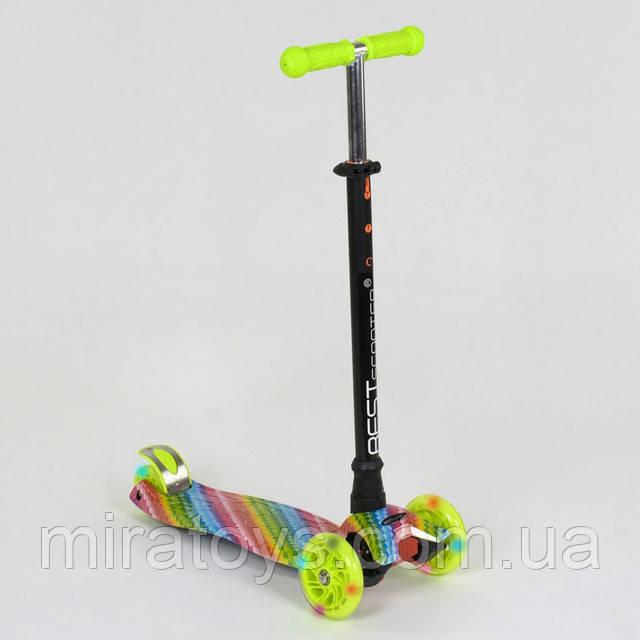Самокат трехколесный для девочки Best Scooter Макси 1335