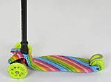 Самокат трехколесный для девочки Best Scooter Макси 1335. Самокат с подсветкой колес, фото 3
