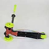 Самокат трехколесный для девочки Best Scooter Макси 1335. Самокат с подсветкой колес, фото 4