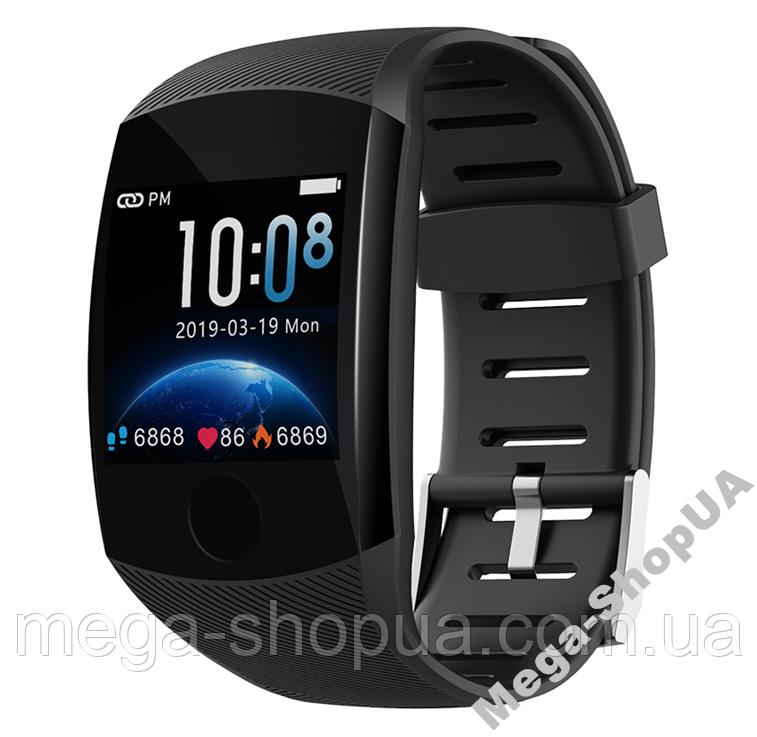 Розумні смарт годинники жіночі чоловічі Smart Watch Q11 Чорні з тонометром. Фітнес браслет трекер. Розумний годинник