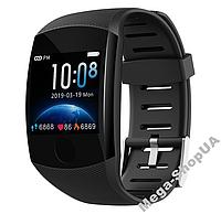 Розумні смарт годинники жіночі чоловічі Smart Watch Q11 Чорні з тонометром. Фітнес браслет трекер. Розумний годинник, фото 1