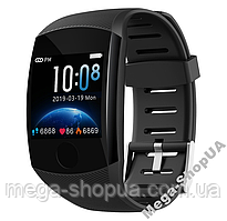 Умные смарт часы женские мужские Smart Watch Q11 Черные с тонометром. Фитнес браслет трекер. Розумний годинник