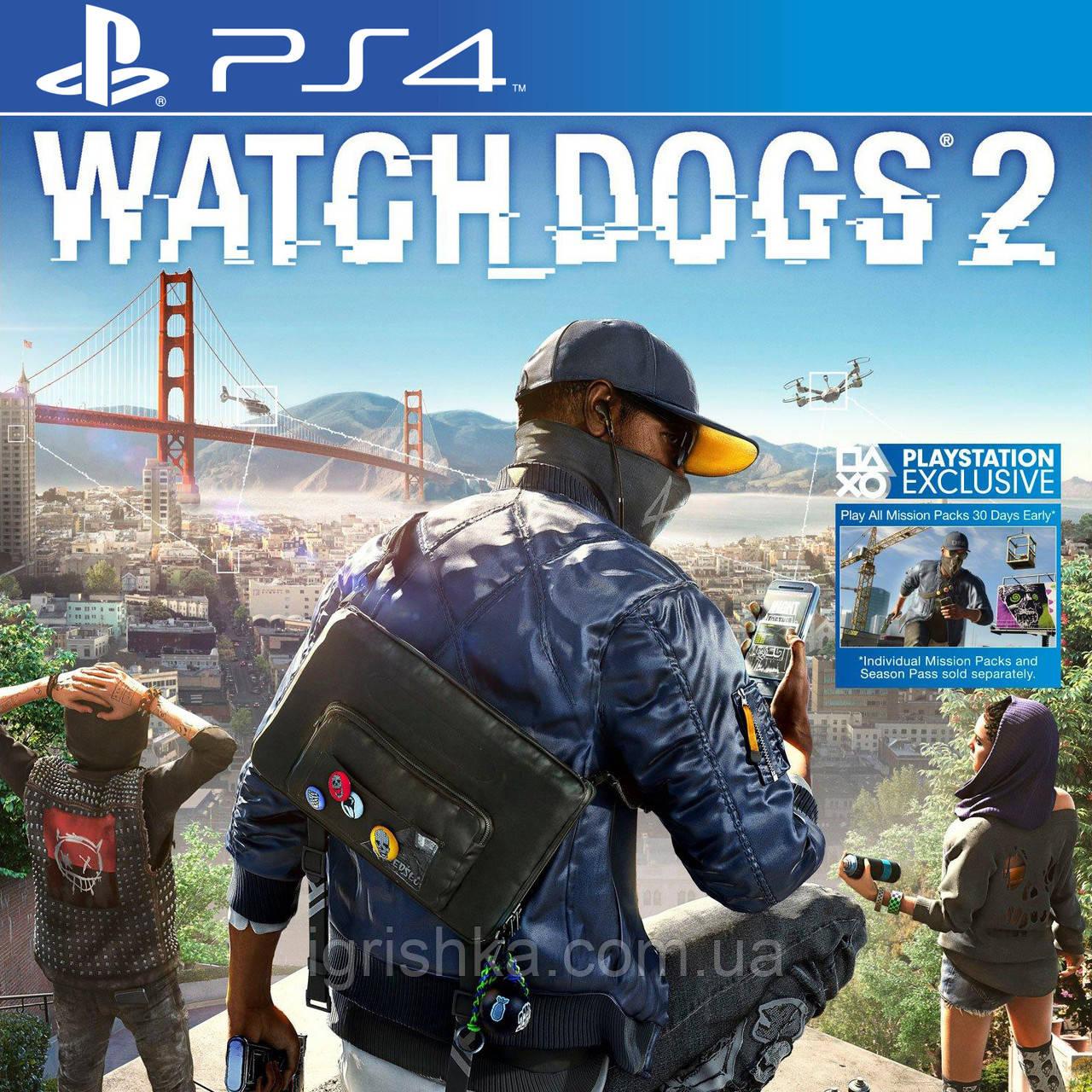 Watch Dogs 2 Ps4 (Цифровой аккаунт для PlayStation 4) П3
