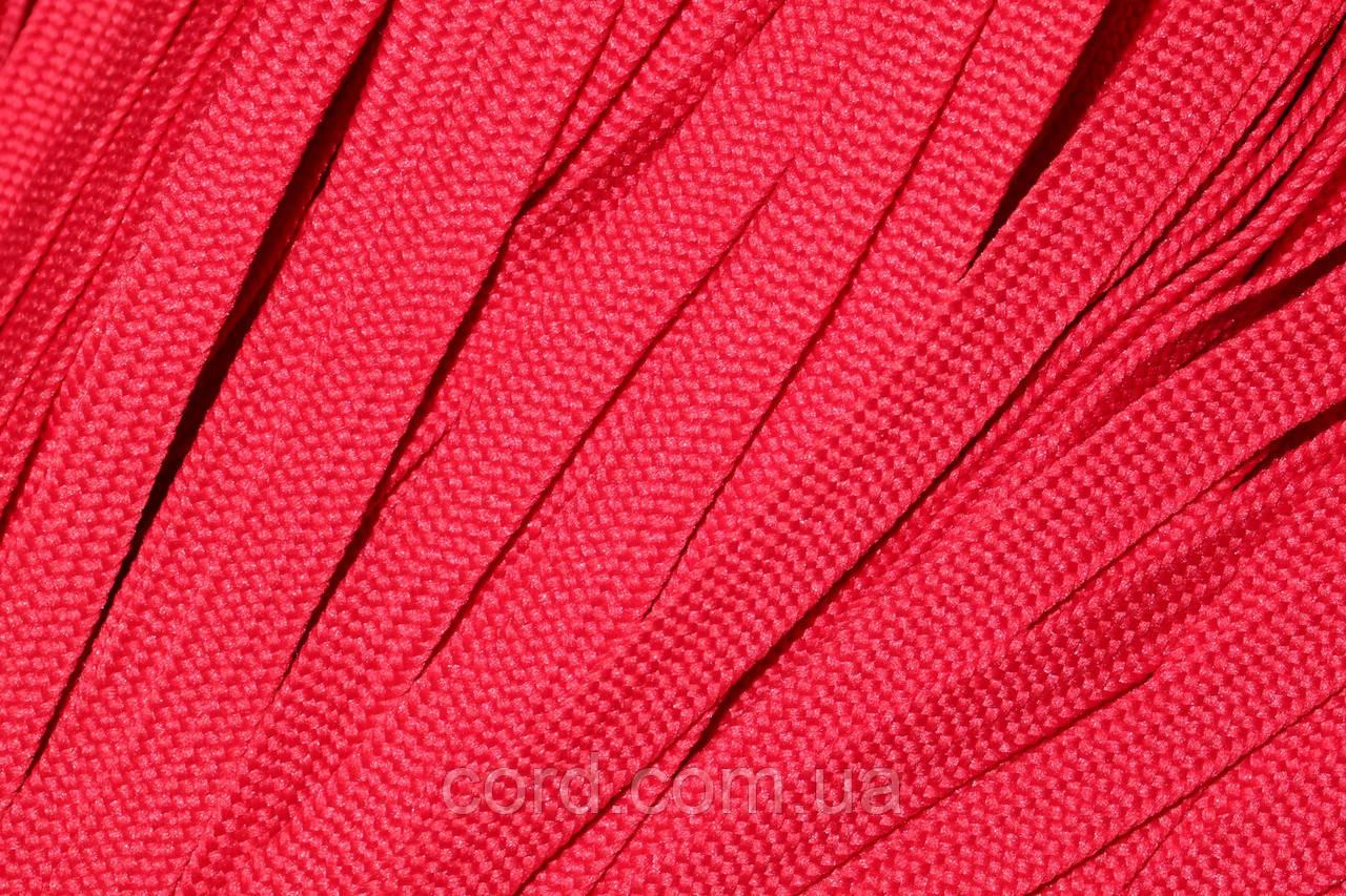 Шнур плоский тесьма 10мм (100м) красный
