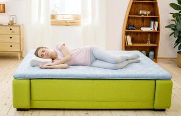 Дормео Ролл Ап зелёный чай. Матрас на диван. Миниматрас. Топпер. Подушка и одеяло в подарок.
