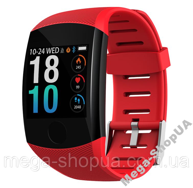 Умные смарт часы женские мужские Smart Watch Q11 Красные. Фитнес браслет трекер. Розумний годинник