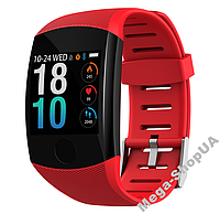 Умные смарт часы женские мужские Smart Watch Q11 Красные. Фитнес браслет трекер. Розумний годинник, фото 1