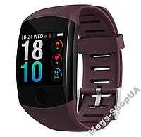 Умные смарт часы женские мужские Smart Watch Q11 Фиолетовые. Фитнес браслет трекер. Розумний годинник