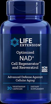 Никотинамид Рибозид c ресвератролом, Life Extension, NAD+, 300 мг, 30 капсул, клеточный регенератор