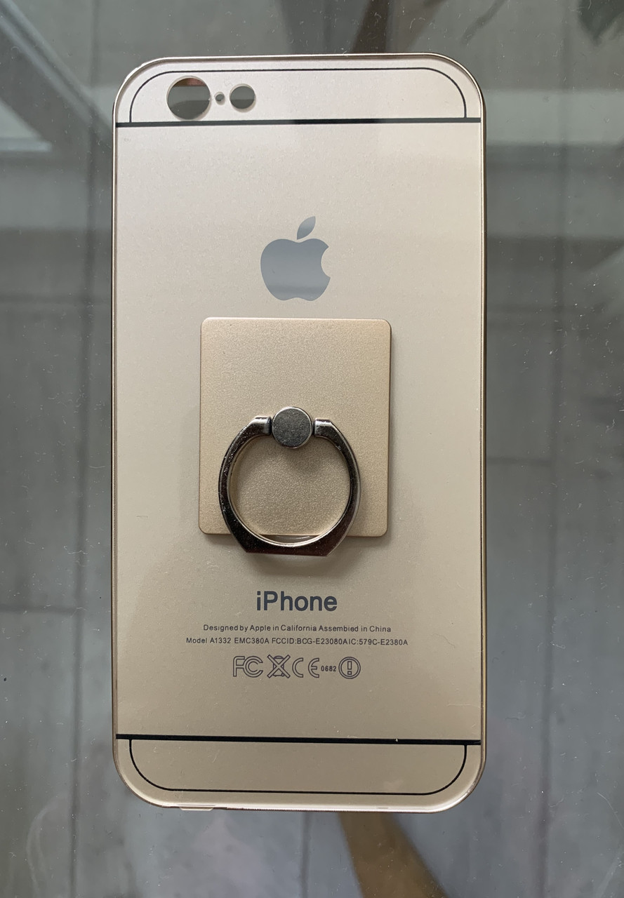 Чехол накладка для Iphone 6/6S бампер+задняя панель , золотой