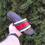 Чоловічі літні шльопанці (чорно-білі з червоним) 40005, фото 5