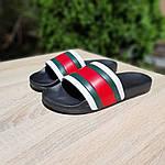 Чоловічі літні шльопанці (чорно-білі з червоним) 40005, фото 6