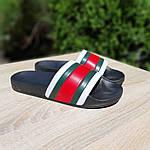 Чоловічі літні шльопанці (чорно-білі з червоним) 40005, фото 7