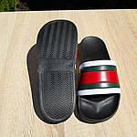Чоловічі літні шльопанці (чорно-білі з червоним) 40005, фото 8