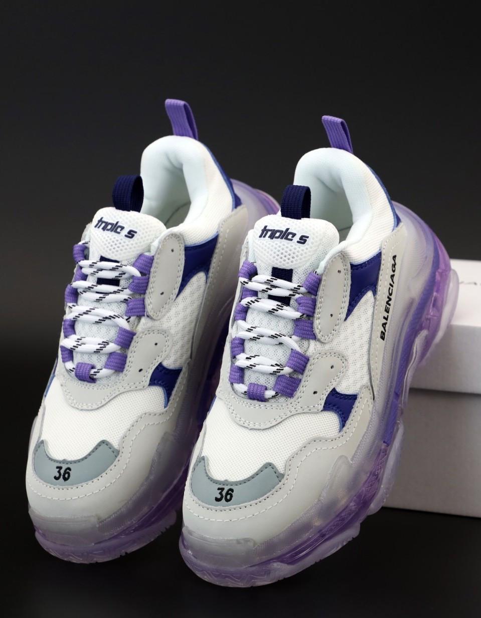 Женские кроссовки Balenciaga Triple S Purple