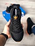 Чоловічі кросівки Adidas ZX500 RM (чорно-помаранчеві) KS 1484, фото 2