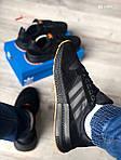 Чоловічі кросівки Adidas ZX500 RM (чорно-помаранчеві) KS 1484, фото 6