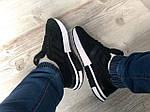 Мужские кроссовки Adidas ZX500 RM (черно-белые) KS 1487, фото 3