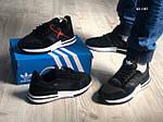 Мужские кроссовки Adidas ZX500 RM (черно-белые) KS 1487, фото 4