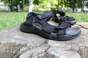 Мужские сандалии Adidas на лето (черно-оранжевые) D8