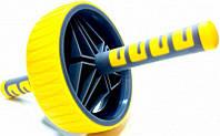 Ролик для пресса LiveUp Exercise Wheel 19 см Yellow-Black (LS3371)