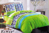 Комплект постельного белья ELWAY евро 5046 сатин