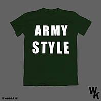 """Футболка детская для мальчика """"Army style"""" 2-6 лет, темно-зеленого цвета"""