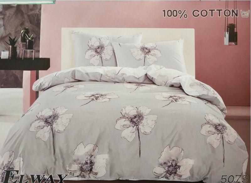 Комплект постельного белья ELWAY евро 5079 сатин