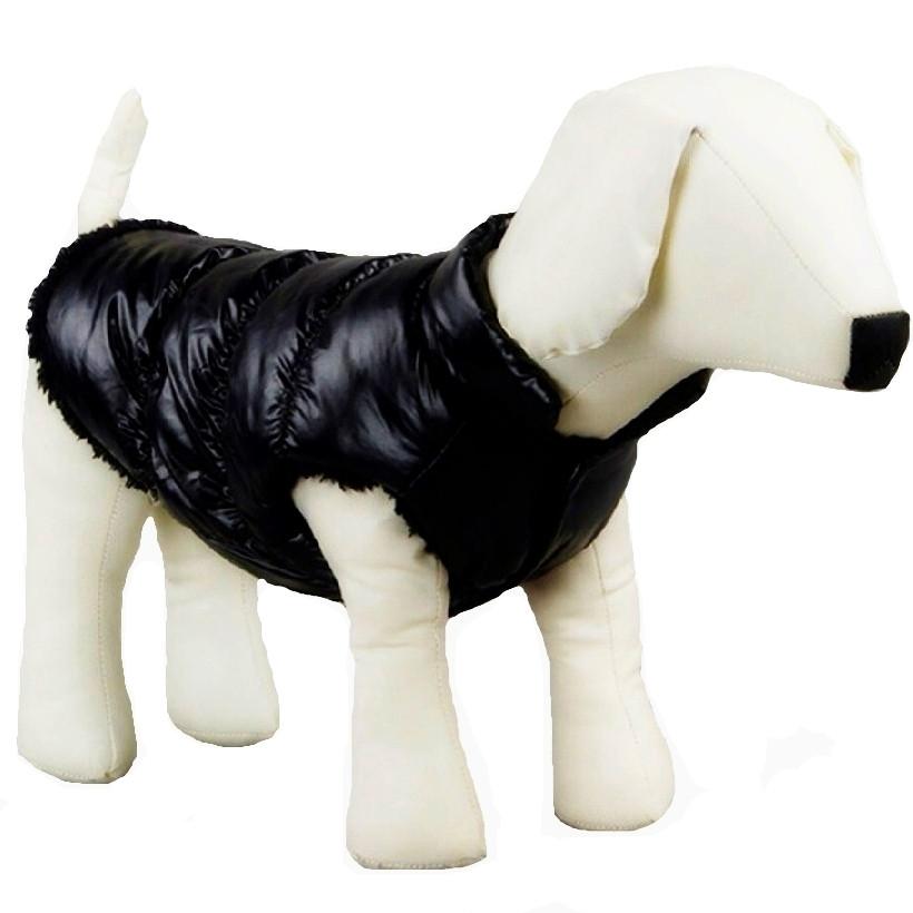 Куртка для собак «Дутик», черный, зимняя, осенняя одежда для собак мелких, средних пород