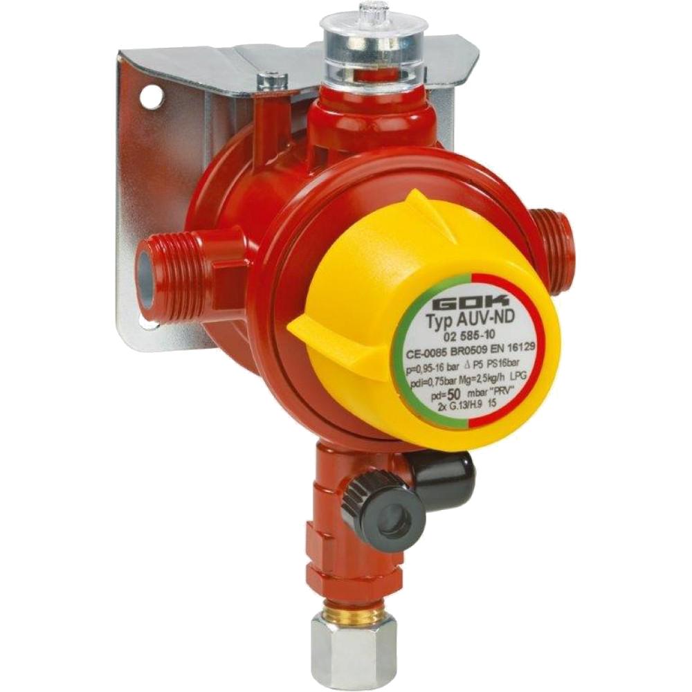 Переключающий клапан газа AUV-ND 4 кг/час 29-37 мбар