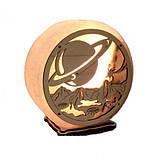 Соляной светильник круглый Планета, фото 4