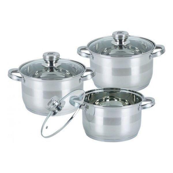Набір посуду Edenberg EB-3710 з 6 предметів нержавіюча сталь