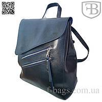 Рюкзак женский, сумка рюкзак женская для девочки из кожзама S583-3# темно-синий