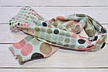 Коричневый шарф снуд в горохи из хлопка с блестками Demure 180*42, фото 3