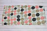 Коричневый шарф снуд в горохи из хлопка с блестками Demure 180*42, фото 4
