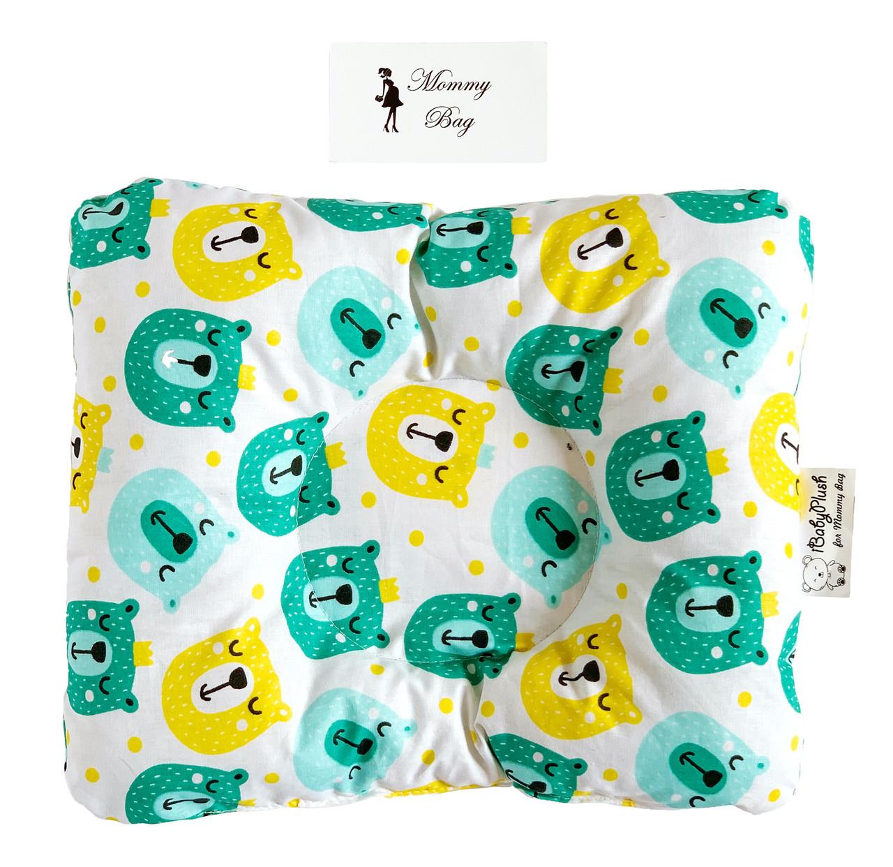 Ортопедическая подушка для новорожденных Королевские Мишки №16