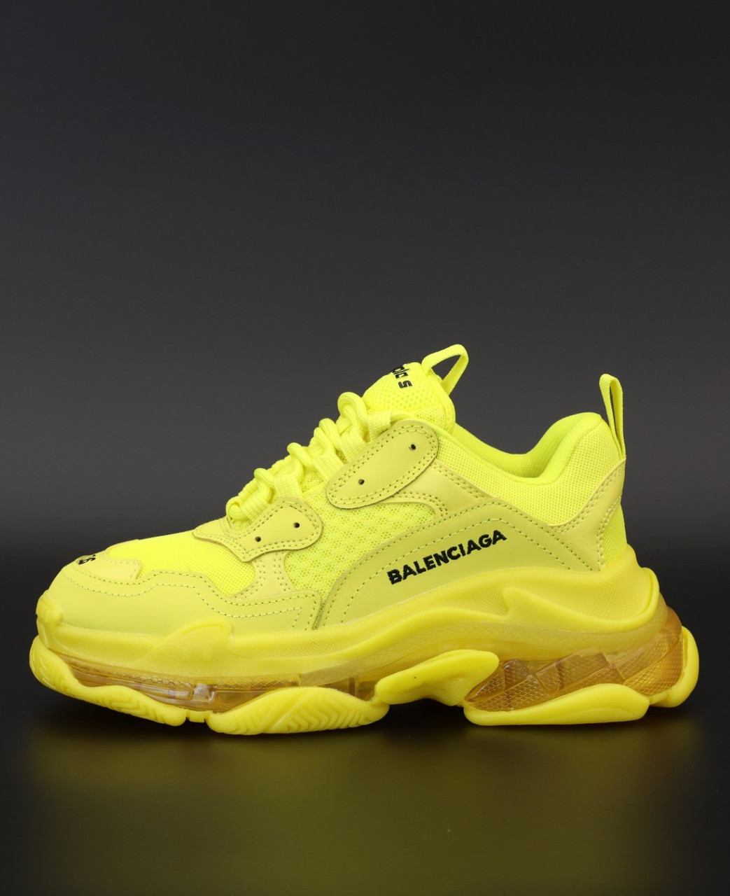 Мужские кроссовки Balenciaga Triple S Yellow