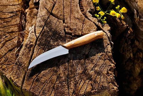 Кухонный нож с буковой рукоятью №1 , 40Х13, 18см, фото 2