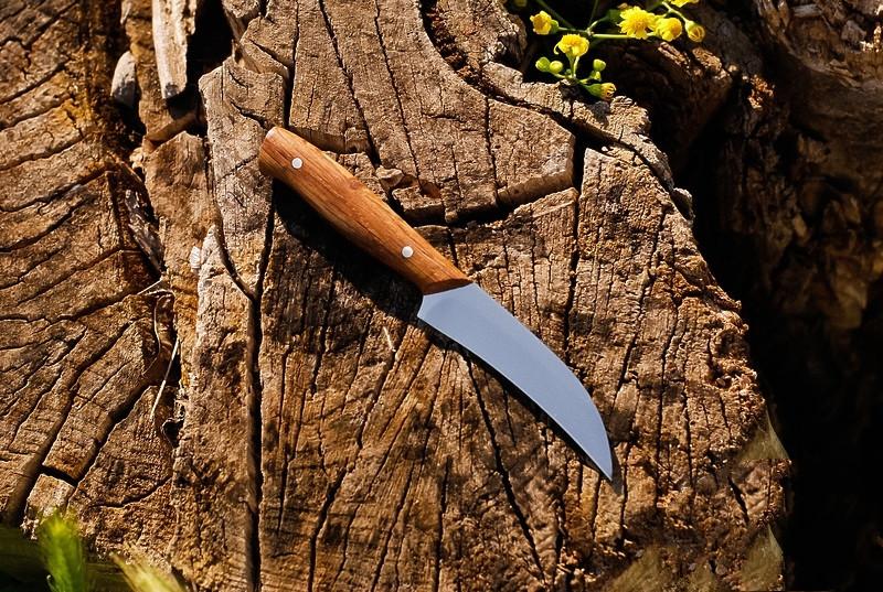Кухонный нож с буковой рукоятью №1 , 40Х13, 18см