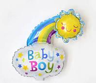 Мини-шар фольгированный SHOW Облачко со смайликом Baby Boy 47*36 см