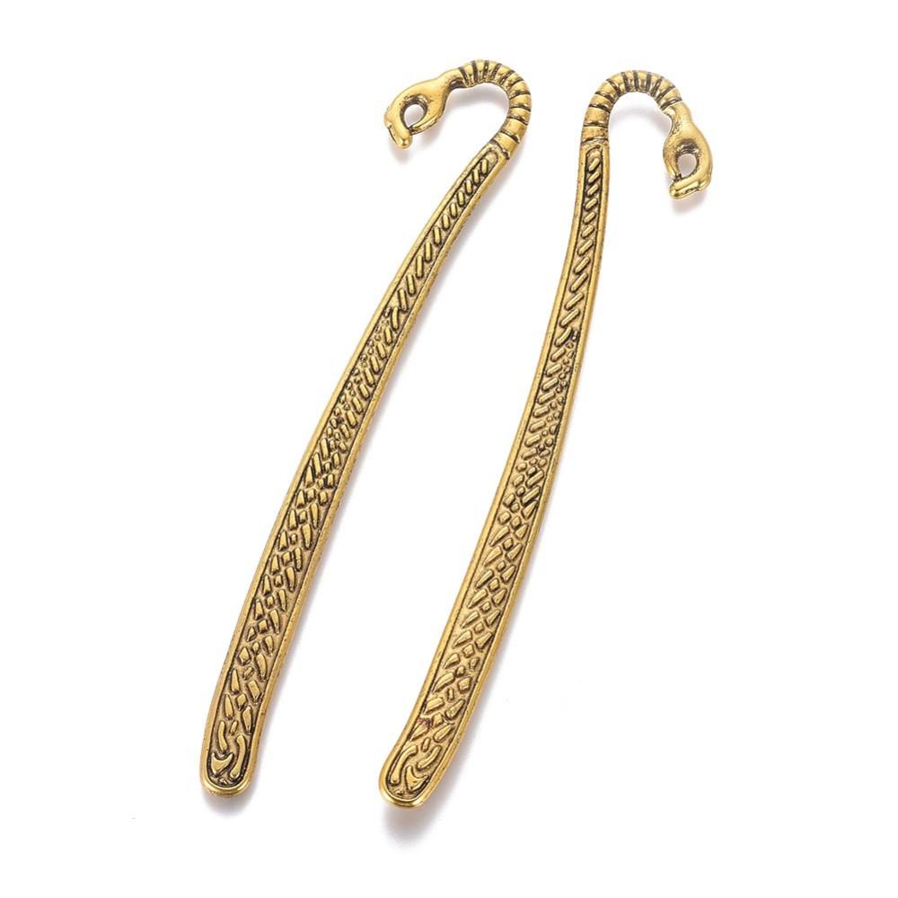 Металлические закладки-заготовки для книг 12 см с кольцом античное золото для рукоделия