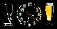 Оригинальные часы настенные для бара Бережи воду, пий пиво 30х60 см