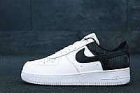Кроссовки мужские Nike Air Force 1 Low в стиле Найк Аир Форс 1, белые с черным ⏩ [42-26,5см]