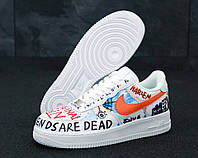 Кроссовки унисекс Pauly X Vlone Pop Nike Air Force 1 Low White / Найк Аир Форс белые 38