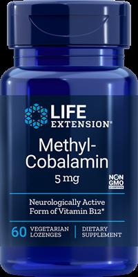 Life Extension, Метил-кобаламин, витамин В12, 5 мг, 60 пастилок
