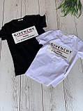 """Футболка жіноча літнє з натуральної тканини бавовна з написом """"Givenchy"""", 2 кольори р. 42-46 код 757Г, фото 2"""