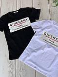 """Футболка жіноча літнє з натуральної тканини бавовна з написом """"Givenchy"""", 2 кольори р. 42-46 код 757Г, фото 4"""