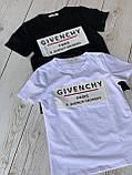 """Футболка жіноча літнє з натуральної тканини бавовна з написом """"Givenchy"""", 2 кольори р. 42-46 код 757Г, фото 5"""