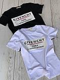 """Футболка жіноча літнє з натуральної тканини бавовна з написом """"Givenchy"""", 2 кольори р. 42-46 код 757Г, фото 6"""